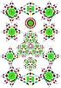 Vector clipart: Kaleidoscope patterns