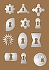 Vector clipart: Keyhole of the various form