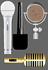 Vector clipart: Microphone version