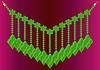 Vector clipart: Necklace emerald
