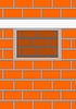 Vector clipart: Opening window in brick wall