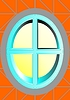 Vector clipart: Oval window