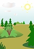 Vector clipart: Path in wood