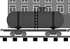 Vector clipart: Railroad tank