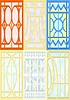 Vector clipart: Stained glass windows