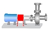 Vector clipart: The centrifugal pump