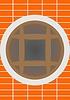 Векторный клипарт: Окна в подвале здания