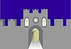 Vector clipart: Tower with gate