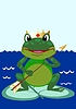 Vector clipart: Tsarevna frog