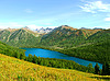 Lake surrounded by mountains | Stock Foto