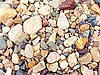 Multi-colored river rocks and pebbles | Stock Foto