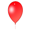 Roter Luftballon | Stock Illustration