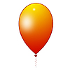 Orange balloon | Stock Illustration