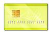 Gold plastic bank card | Stock Illustration