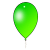 Green air balloon | Stock Illustration