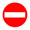 Photo 300 DPI: Road sign - Do Not Enter