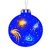 Blue Christmas ball | Stock Illustration