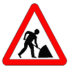 Photo 300 DPI: warning sign road building