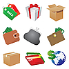 Vector clipart: Shop icons