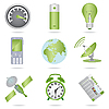 Miscellaneous green icons | Stock Vector Graphics