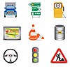 Traffic icons | Stock Vector Graphics