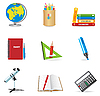 Vector clipart: education school icons