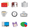 Office icons | Stock Vector Graphics