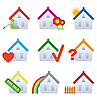 Real estate house icons | Stock Vector Graphics