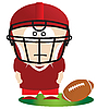 Football player | Stock Vector Graphics