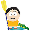 Vector clipart: Kayaker