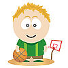 Vektor Cliparts: Basketball-Spieler