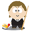 Vector clipart: Pool Player