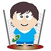 Векторный клипарт: атлет метатель диска