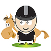 Vector clipart: Horse and rider