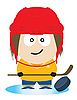 Ice hockey player | Stock Vector Graphics