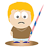 Vector clipart: Javelin athlete