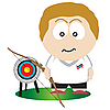 Vector clipart: Archer