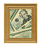 Wooden frame and money | Stock Foto