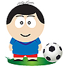 Vector clipart: Football player