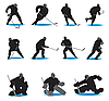 Hockey Silhouettes | Stock Vector Graphics