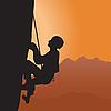 Vector clipart: Rock climbing