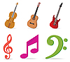 Vektor Cliparts: Musik Symbole