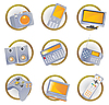 Vector clipart: Hi-tech equipment icons