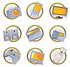 Hi-tech equipment icons