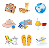 Vector clipart: Tourism and vacation icons