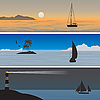 Vector clipart: Sailboats