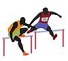 Vector clipart: Running mans