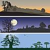 Vector clipart: Landscape banners