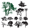 Vector clipart: Tree silhouettes