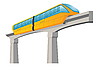 Vector clipart: Monorail